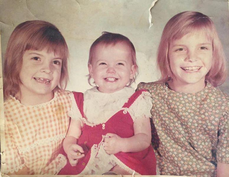 Me Kathy Debbie as kids